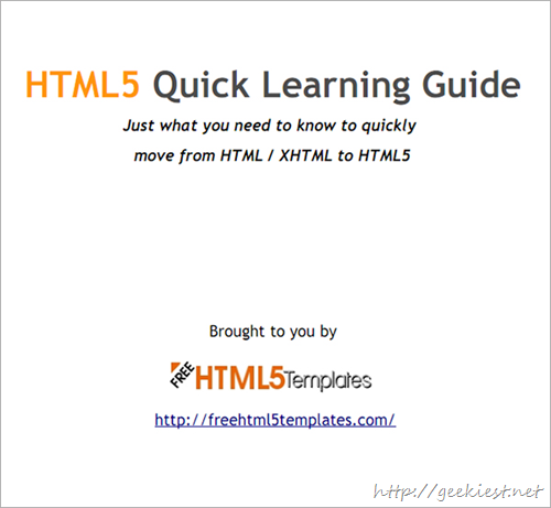 HTML5 Quick Learning Guide from FreeHTMLTemplates