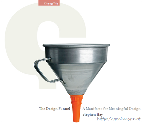 The Design Funnel by Stephen Hay