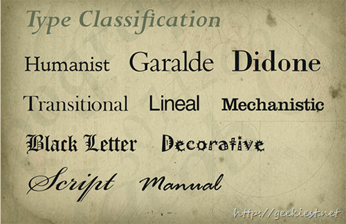 Type Classification by Jacob Cass