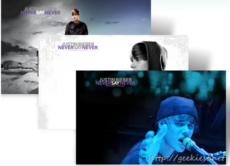 Justin Bieber: Never Say Never Windows 7 theme