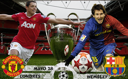 UEFA Champions League Final 2011 - Manchester United Vs FC Barcelona Wallpaper