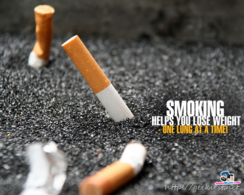 Wallpaper-  Smoking help you to loose weight one lung at a time