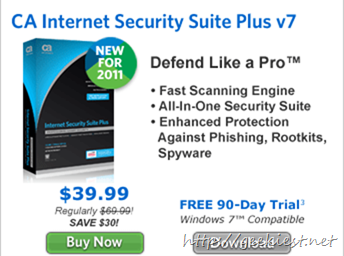 Free CA Internet Security Suite Plus V7