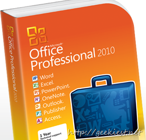 Office 2010 Giveaway won