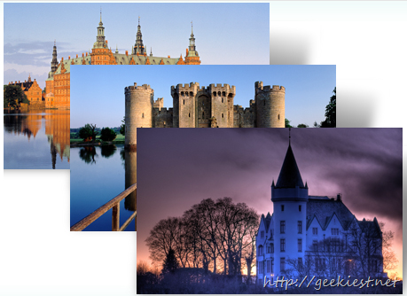 Castles of Europe Windows 7 theme from Microsoft