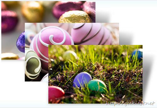 Decorated Eggs Windows 7 Theme from Microsoft for this Easter