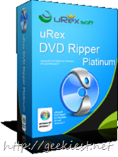 uRex DVD Ripper Platinum - Giveaway of 5 full version Licenses