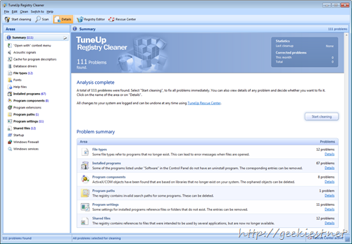 TuneUp Registry Cleaner