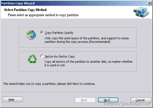Copy Partition