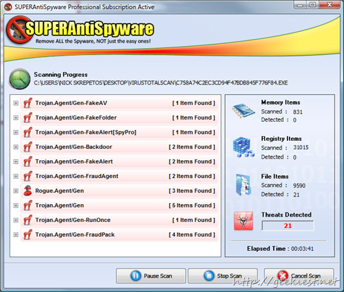 Geekiest Giveaway 2013- Free SUPERAntiSpyware Professional Edition full version licenses