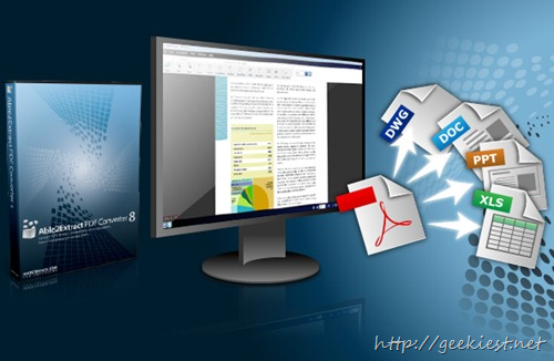 Geekiest Giveaway 2013 Day 8 - Free Able2Extract PDF Converter 8 Standard full version license