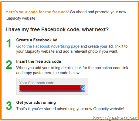 50 worth Facebook Ads coupon for free