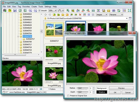 Free Image viewers for Windows - Faststone image viewer