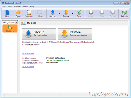 Free Backup4all Lite license worth $19.95