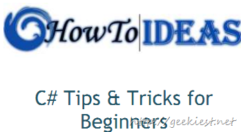 Free eBook - C# Tips, Tricks for Beginners