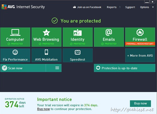 Free AVG Internet Security 2013