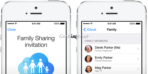 ios 8 family sharing