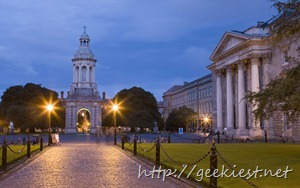 Trinity College in the early evening, Dublin, Ireland