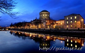 Four Courts on the River Liffey in Dublin, Ireland