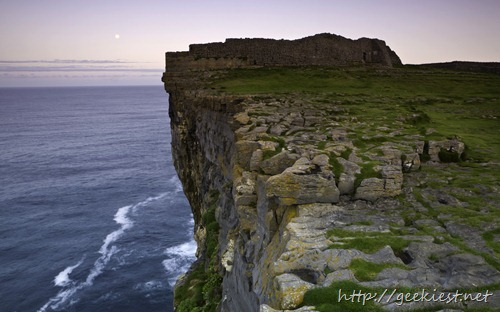 Dun Aengus and cliffs on the island of Inishmore, Galway Bay, Ireland
