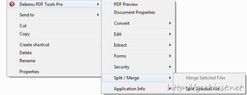 Split or Merge PDF files