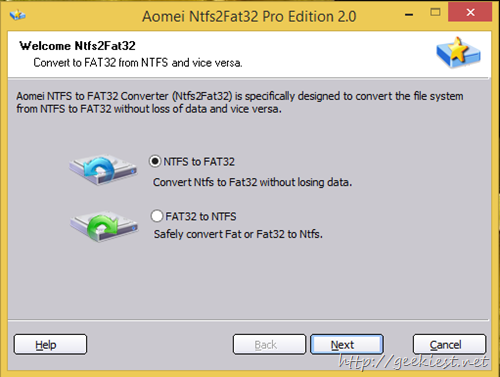 ntfs to fat