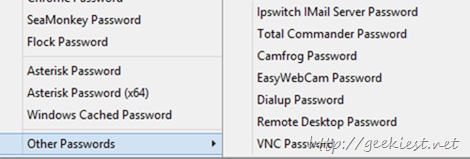 other password recoveries