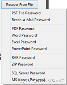 password recovery from files