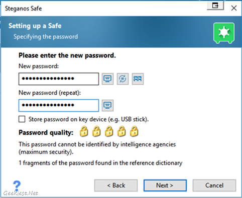 safe password