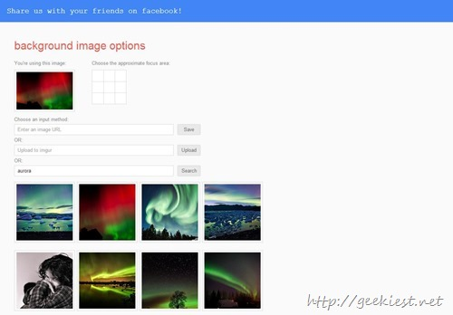 set Google background on chrome