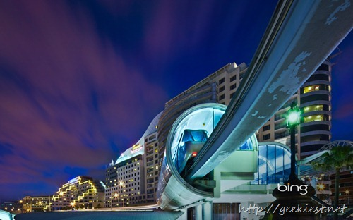 Monorail stop at Darling Harbour, Sydney, Australia