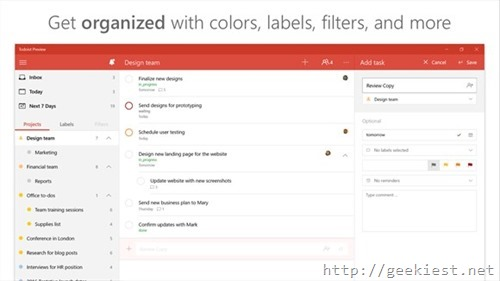 toDoist for Windows PC and Mobiles