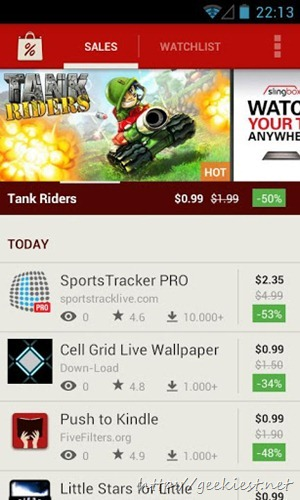 How to find Android Applications and Games on Sale