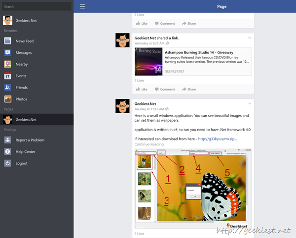 windows 8 facebook app